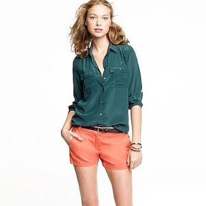 J. Crew💕Sunburnt Orange Chino Shorts 10